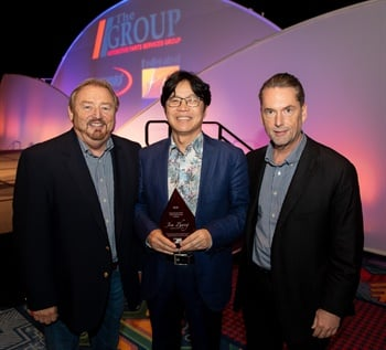 (Left to right): Rusty Bishop, CEO, Federated Auto Parts; Jim Zhang, owner, Friction One; and Bo Fisher, chairman of the board, Federated Auto Parts.