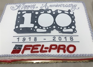 Happy birthday Fel-Pro! The brand celebrated its 100th anniversary with cake, parties and promotions.