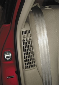 The air intake vent for the Prius battery cooling fan has no filter. The fan should be cleaned at least once a year.
