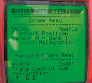 Figure 1: Here's a screenshot of a DTC scanned using a quick code reader.
