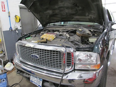 This customer's Ford Excursion had a parasitic draw caused by its battery.