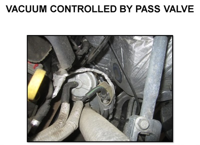 Figure 13: Example of the vacuum control to the by pass valve (GM 1.4L).