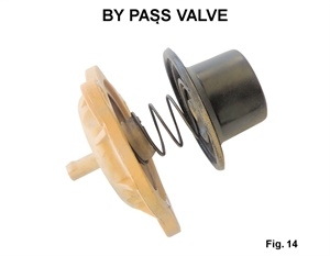 Figure 14: Exploded view of a by pass valve.