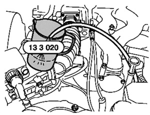 """Figure 6: Even BMW endorses this technique, as can be seen in the repair information available to us from Mitchell 1's ProDemand software. The Germans give us the specification """"one liter every 30 seconds"""" in order to confuse technicians across the ocean. Being that a gallon is 3.89 liters, the technician can surmise that every minute there is about half a gallon of fuel flow on a known-good BMW."""