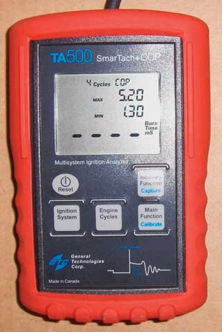 Figure 6: The hand-held GTC TA500 COP tester can be used by simply playing the comparison game between coils.