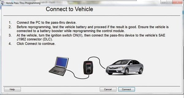 FIGURE 7: The program automatically asks the technician to make sure the battery is good.