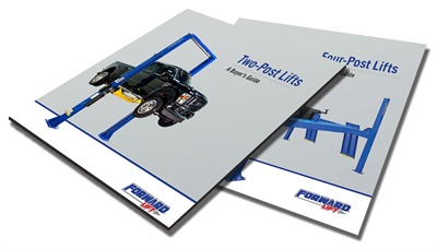 Forward Lift is offering two new free resources for matching shop needs with two-post lifts or four-post lifts.