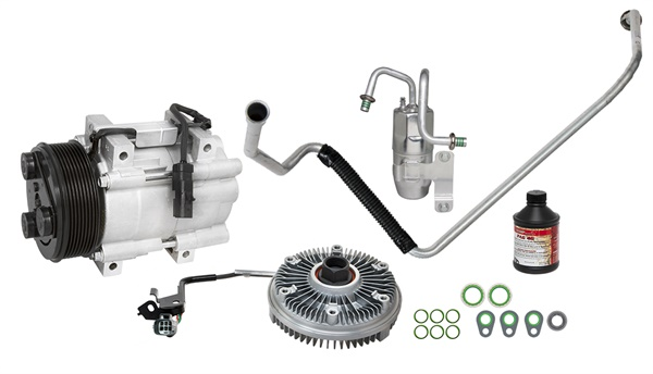 The new Dodge Ram Cummins Diesel kit from Four Seasons includes all components and items needed to repair a failed electronic viscous fan clutch.