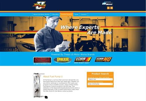 US Motor Works' Fuel Pump U website is now easier to navigate.