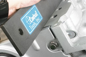 Many of today's OE engines such as GM's LS series feature front and rear cast aluminum covers. The lower edges of these covers must mate squarely to the oil pan. Before tightening front or rear cover bolts, verify flush surface alignment with the block's pan rails. Prior to installing the pan, apply a dab of RTV in each corner where the oil pan, block rail and cover corners meet.