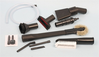 A wide array of accessories are available, including extensions, a variety of vacuum tips including some with handy brush heads, and even a mini-tip kit for sucking debris from tiny, hard-to-reach areas.