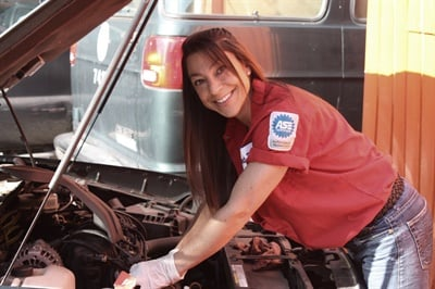 "An innovative shop owner, Fordin has committed a substantial amount of time and effort to aid her female customers via her ""Women Auto Know"" program."
