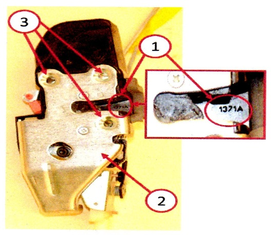 Verify the build date (Julian Date). If between 3200 and 0841, replace the latch assembly.