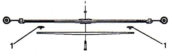 A simple diagnosis and fix. If the overload spring inserts have failed, simply replace the inserts. Shown here is a single leaf with overload spring. This requires insert P/N 15247030.