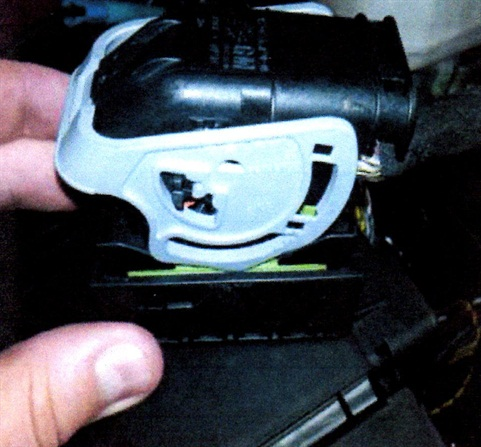 Inspect the connector lock, cover and body for a pinched wire.