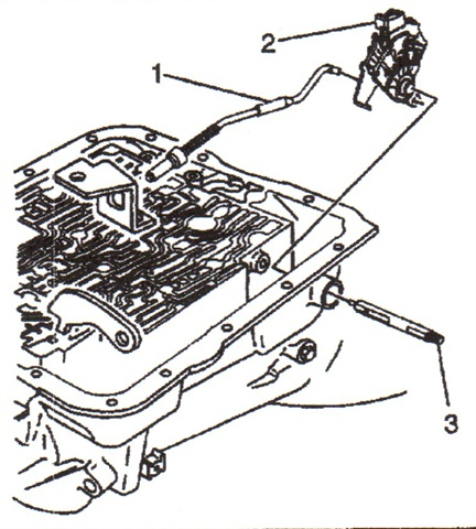 Internal mode switch (2). Manual shaft (3) has been redesigned to  accommodate the IMS. The actuator rod (1) is a new design, and will  back-service. This rod features a flat to accommodate the IMS.