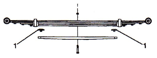 Multi-leaf spring packages require insert P/N 15604067.