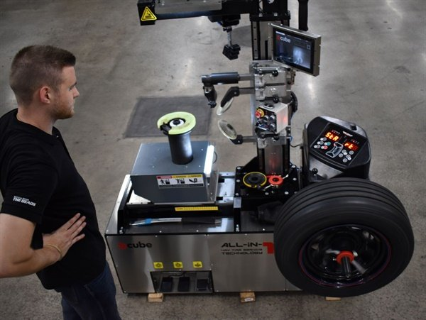 Gaither Tool will return to the SEMA Show and demonstrate the E-Cube compact mobile tire servicing unit.