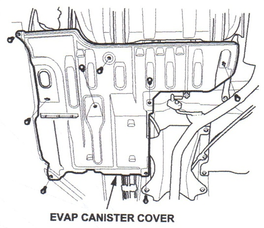 EVAP canister cover.