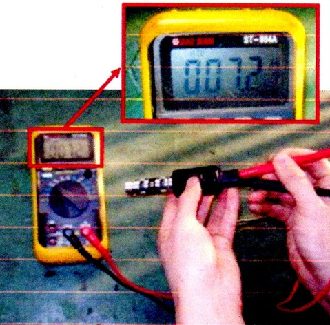 Fig. 1. Measure coil resistance between the OCV power and signal terminals.