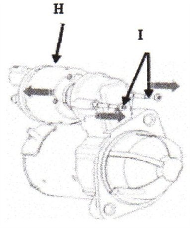 Remove the solenoid from the starter.