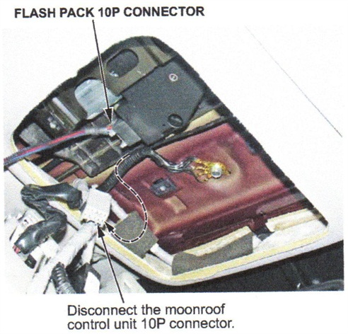 Note the location of the 10P connector.