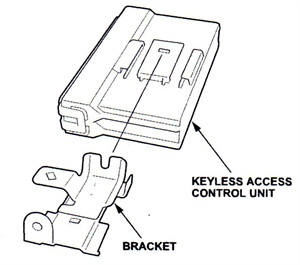Once the control unit has been removed, remove the bracket and install the original bracket to the new control unit.