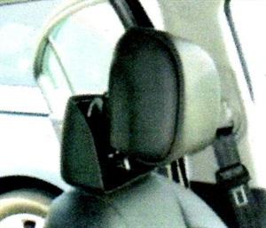 Example of deployed headrest.