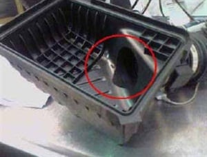 Example of the air filter housing on the 2.7L engine.