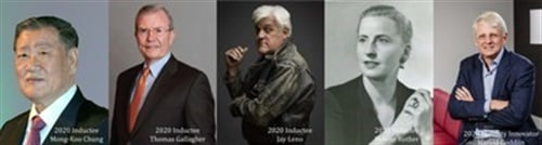 Mong-Koo Chung, Thomas Gallagher, Jay Leno, and Helene Rother will be inducted into the Automotive Hall of Fame and Harold Goddijn awarded Mobility Innovator on Thursday, July 23, 2020, at the MGM Grand Detroit, in Detroit, Mich.