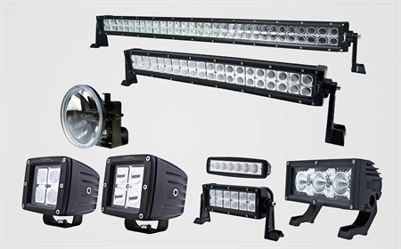 The new Optilux LED line features different styles of LED lamps to fit a variety of off-road applications.