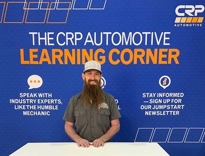 "Charles Sanville, host of ""The Humble Mechanic"" podcast and YouTube channel, will be at CRP Automotive's booth #3471 during this year's Automotive Aftermarket Products Expo in Las Vegas."