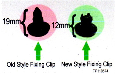 The old clip (left) is 19 mm long, while the new short clip measures 12 mm long. One package includes two of these shorter clips.