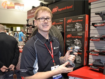 Joshua Johnson, engineering manager for cordless tools at Ingersoll Rand, says the IQV12 Series was designed to provide speed and save time to repair techs.