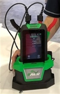The new IB Pulse tester is compact and wall-mountable with redundant charging ports.
