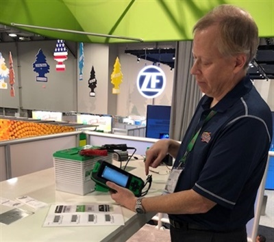 Cliff Sewing says the new IB Pulse tester is the only one he has seen on the market that gives the battery part number for the vehicle tested.