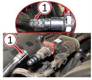 Note the split on this purge valve hose.