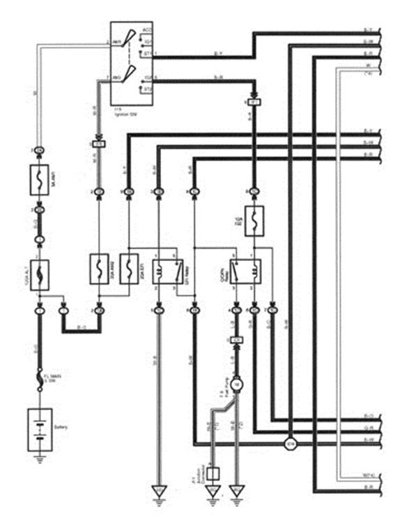 Figure 2: A fuel pump wiring diagram.