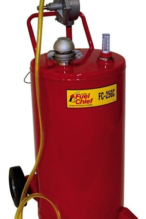 JDI will contribute $10 to breast cancer research for every Fuel Chief FC-25GC 25- Gallon Steel Gas Caddy sold.