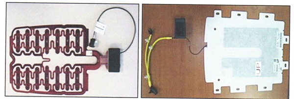 Previous Kia models used a pressure sensor in the seat cushions (left),  while the models noted in this bulletin use an electric field sensor.