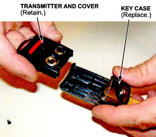 Retain the transmitter and cover, but replace the key case.