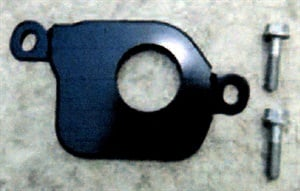Shown here is the new inhibitor switch rubber bracket and supplied mounting bolts.
