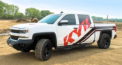 Mike Davis of Carrollton, Texas, won this customized truck in the Win With KYB promotion.