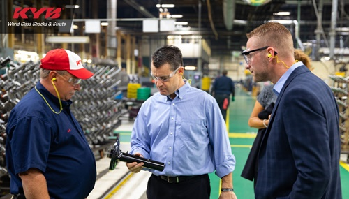 U.S. Senator Todd Young met with KYB employees to discuss issues of concern in the industry.