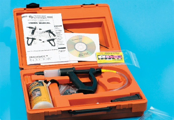 Phoenix Systems' Phoenix V12 Pro kit is a budget-minded bleed system but designed for professional durability.