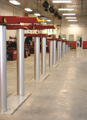 In-ground lifts provide a reduced footprint, allowing a greater number to be installed in a given space.