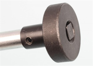 The adapters secure to the drive rod via a simple 3/8-inch square drive.