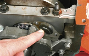 Note that the vehicle's oil pump's pickup tube engages into the oil pump inlet.