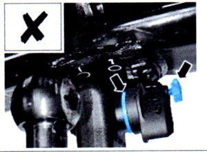 When test fitting, if the red signal ring is still visible, the receiver is not fully inserted and cannot be locked.