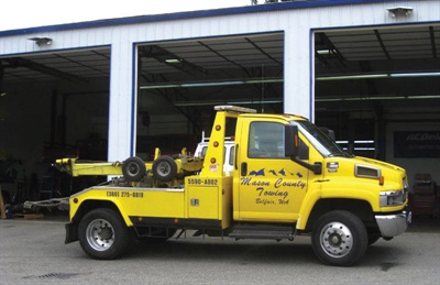As an added customer convenience, the shop offers 24/7 towing service.